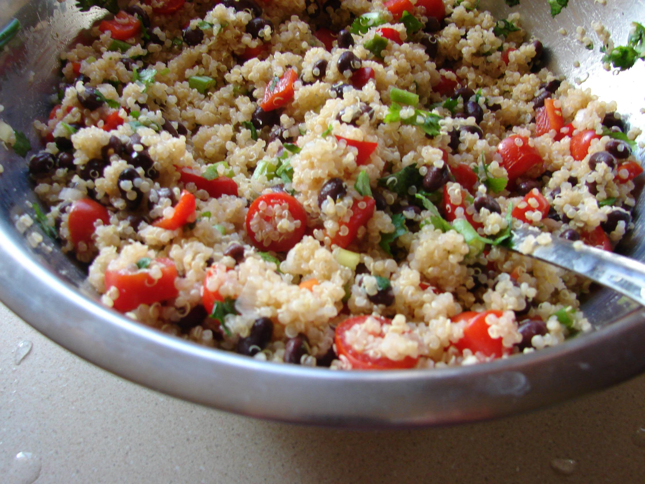 Quinoa and Black Bean Salad | Beyond Rice and Tofu