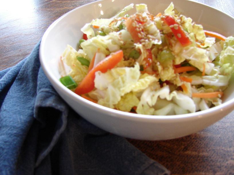 Napa Cabbage Salad with Sesame-Ginger Dressing | Beyond ...