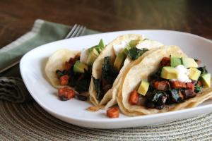 Sweet Potato, Black Bean and Kale Tacos | Beyond Rice and Tofu